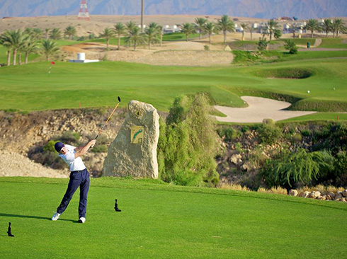 Golfing in Oman Grand Hyatt