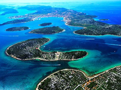 Inselwelt Kroatiens aus der Luft