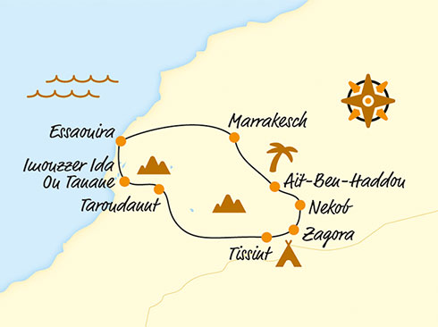 Itinerary Morocco by e-bike