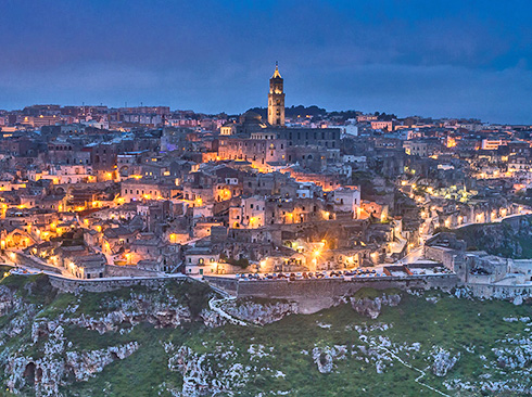 overview of matera and sassi italy basilicata