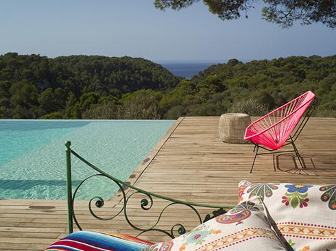 Minorka da tatil villası havuzu