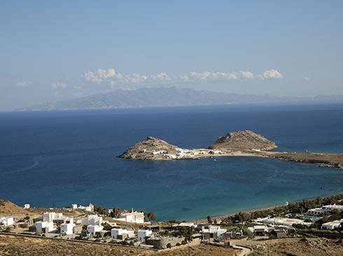 Meerblick auf Mykonos