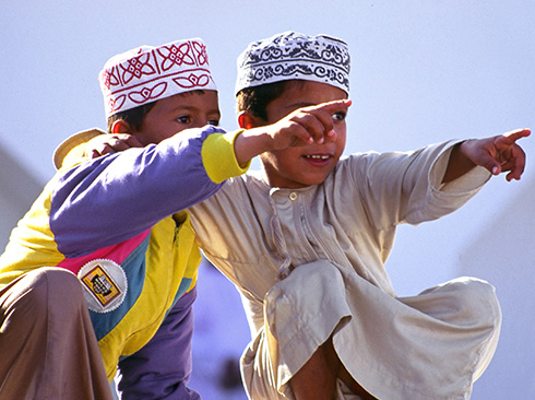 Children in traditional dressing from Oman