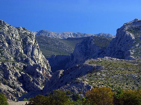 Herrliche Landschaft Paklenica