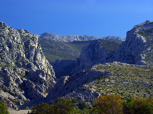 Berglandschaft im Nationalpark Paklenica