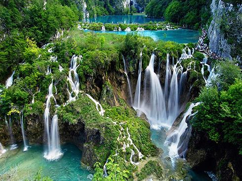 Wasserfälle im Nationalpark Plitvice Kroatien