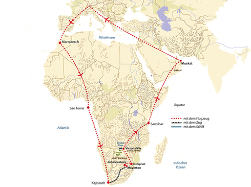 Route Aircruise Africa