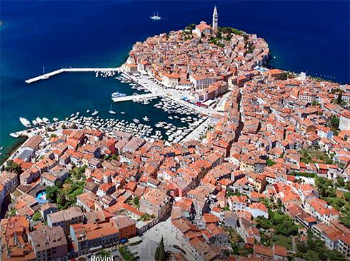 malerische Küstenstadt Rovinj in Istrien