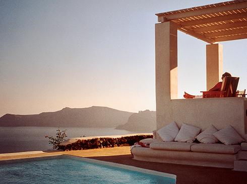 Ferienvilla am Meer Santorini