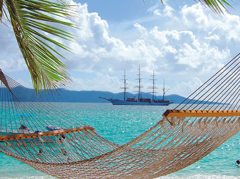 Relax on tall ship Sea Cloud