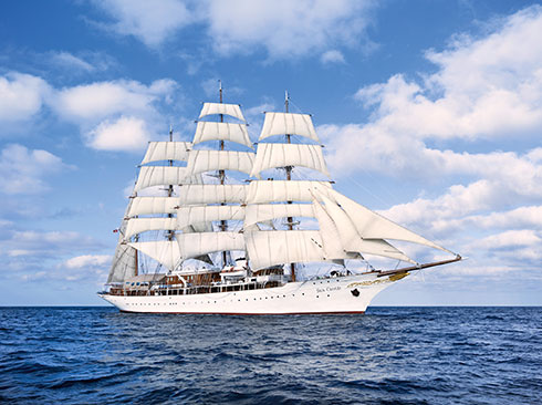 ein Traum unter weißen segeln