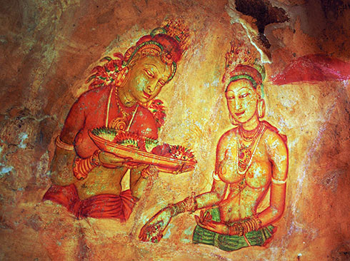 Sigiriya Sri Lanka frescoes UNESCO World Heritage Site
