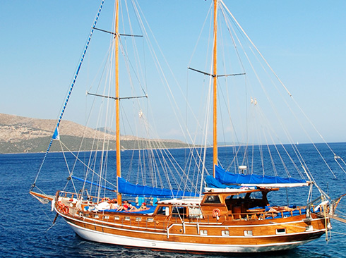 Traditional sailing yacht Greece