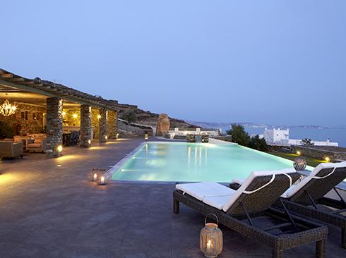 Villa mit Pool auf Tinos