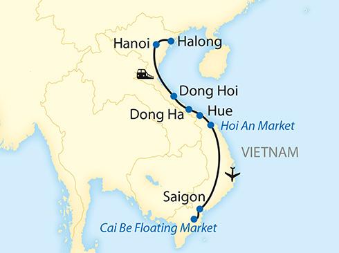 Vietnam Reiseverlauf