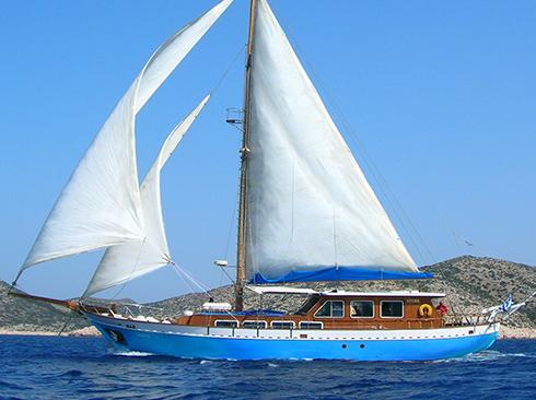 Traditionelle Segelyacht Griechenland