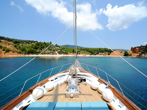 Sailing in the bays of the Sporades