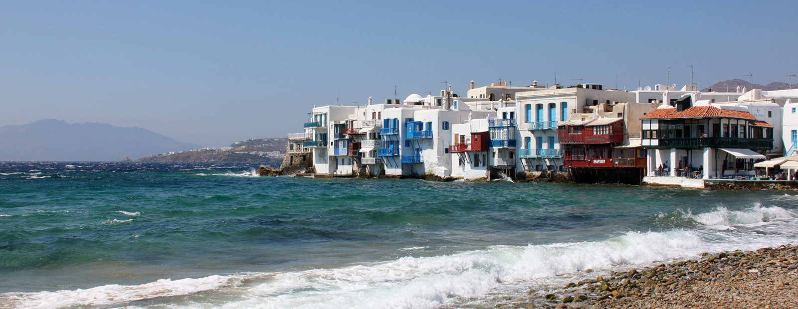 Luxurious holiday homes on Mykonos island